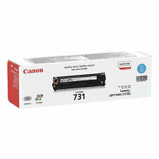 GENUINE CANON 731C / 731 / 6271B002 CYAN LASER PRINTER TONER CARTRIDGE