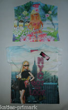 PRIMARK LICENSED BARBIE DOLL GIRLS KIDS TEE T SHIRT TOP AGES 7-13 BNWT MATTEL