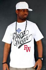 ROCAWEAR HOMBRE JOVEN WESLEY WHITE STAR CAMISETA CAMISAS TIME IS HIP HOP MONEY