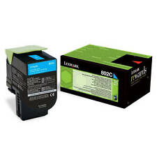 GENUINE LEXMARK 80C20C0 802C CYAN RETURN PROGRAM LASER TONER CARTRIDGE