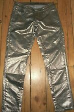 Miss Sixty Soul Jeans 2nd Skin Gold Metallic Skinny 25 x 29 Authentic Made Italy