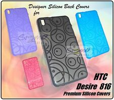 For HTC Desire 816 Designer Coloured Soft Silicon Back Case Cover Pouch