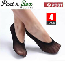 4 Pairs Ladies No Show Footlet Stockings Socks Ladies Silk Stocking Size 2-8