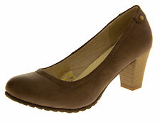 Ladies Work Shoes Court Shoes Party Pumps Casual Leather effect Low Mid Heels