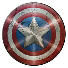 Men's Cotton T-Shirt, Captain America Shield Distressed, Ideal Gift Or Present