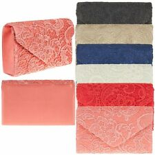 Ladies Designer Quality Lace Envelope Clutch Bag Evening Bag Handbag K41074-6