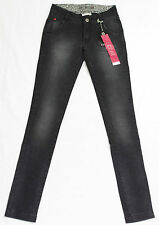 Jeans I CODE by IKKS femme slim fit denim gris taille haute