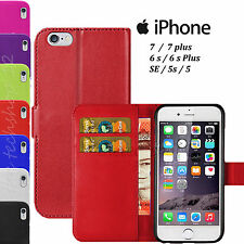 Magnetic Flip Leather Book Wallet  Pouch Case Cover For Apple iPhone 7/6s PLUS 5