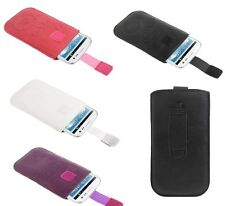 Circles Embossing Leather Pouch Case with Pull Tab for para > movil DIVINITY