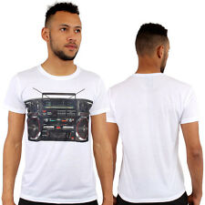 Monkey Business 80's Boombox Retro Print Fitted T-Shirt