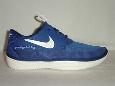 BRAND NEW ORIGINAL NIKE SOLARSOFT MOCASSIN  BLUE TRAINERS 555301403