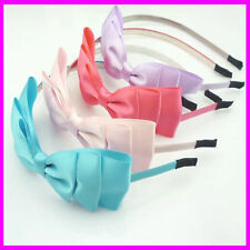 ✭ Large Material Bow Metal Headband Alice Band Girls Hair Accessory ✭ UK Stock