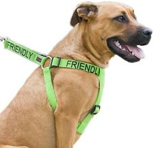 FRIENDLY Strong As Leather Heavy Duty Adjustable Safety Non Pull Pet Dog Harness