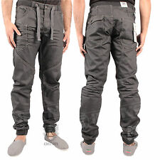 4eb632eb4991 BOYS KIDS ENZO EZB192 DARK GREY JEANS CUFFED TAPERED JOGGER ALL SIZES 24 TO  27