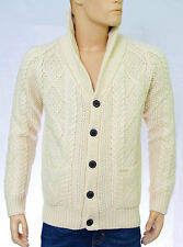 SCOTCH AND SODA Gilet cardigan torsades écru homme Cable Knitted Cardigan