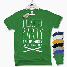 Camiseta T-Shirt -I COMO TO PARTY Y DE i MEAN TAKE Pan- divertida S M L XL XXL