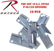 10 G.I. Style P-38 Can Opener John Wyane Can Opener P38 Rothco 9937