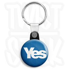 Yes Scottish Referendum, 25mm Independence Keyring Button Badge, Zip Pull Option