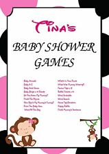 Personalised Baby Shower Games on CD   Pink Monkey   NOT PRINTED SHEETS