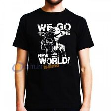 ONE PIECE T-SHIRT T SHIRT MAGLIETTA MAGLIA RUFY RUBBER ACE LUFFY WE GO NEW WORLD