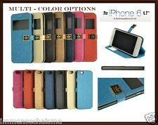 "For iPhone 6 4.7"" Luxury PU Leather Magnetic Flip Window Stand Hard Cover Case"