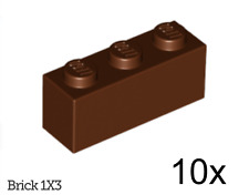LEGO: Pack of 10 1 X  3 Brick ( 3622 ). Various Colours. NEW