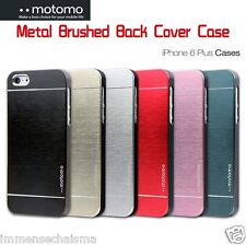 "MOTOMO® iPhone 6 Plus 5.5"" Metal Blend Brushed Polycarbonate Chrome Case Cover"
