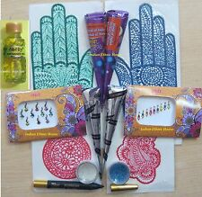 Henna kits for Body Art Mehndi Mehendi Temporary Tattoo Wedding Bridal Makup kit