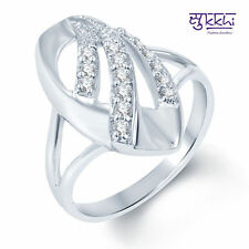 Sukkhi Ritzzy Rodium plated CZ Studded Ring - 237R440