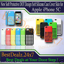 New Soft Protective DOT Design Soft Silicone Case Cover Skin for Apple iPhone 5C