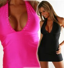 Sexy Mini Robe Striptease Robe Tunique Strass à L 36 38 40 en 8 Couleurs libre
