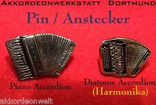 1 Pin / Anstecker - Akkordeon, accordion, acordeon, accordeon - in GOLD Farbe