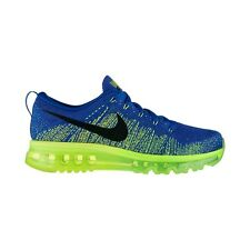 NIKE FLYKNIT MAX UK SIZE 10.5 EU 45.5 RUNNING TRAINERS SHOES BLUE DEADSTOCK NEW