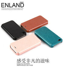 KLD ENLAND THIN FLIP LEATHER CASE COVER FOR IPHONE 4 4S