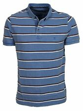 MENS NEW FRENCH CONNECTION 56DPX BLUE STRIPE CASUAL POLO SALE PRICE £19.99