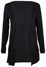 Nauvelle Ladies Plus Size Open Boyfriend Drop Pocket Cardigan Womens Top