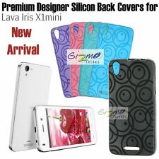 For Lava Iris X1 Mini Designer Vivid Colour Soft Silicon Back Cover Case Pouch