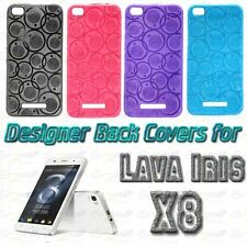 Designer Vivid Colour Soft Silicon Back Cover Case Pouch For Lava Iris X8 / SG