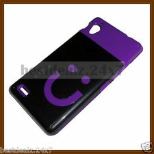 Colourful Smiley Rubber + Metallic Hard Plastic Back Cover for Gionee Elife E5