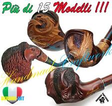IT Set #2 PIPA PIPE PFEIFE INTAGLIATO A MANO Fumo Tobacco Smoking Pipes *SUPER*