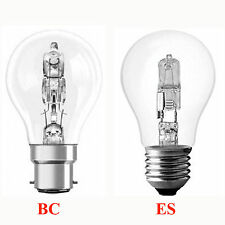 Energy Saving Halogen GLS Light Bulbs Bayonet BC B22 Screw Cap ES E27  ECO Lamp