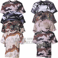 CAMO T-SHIRT MENS COMBAT CAMOUFLAGE ARMY MILITARY SPECIAL BATTLE HUNTING FISHING