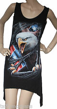 Spiral Rebel Eagle Gothbottom Biker Rock Western Dress Vest Top