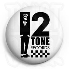 2-Tone Records - 25mm Rude Boy, Ska & Mod Button Badge with Fridge Magnet Option
