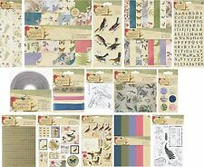PAPERMANIA NATURE'S GALLERY PAPERS STAMPS 3D BIRDS CARDS & ENVELOPES STICKERS