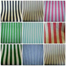 Chalk White Red-Green-Teal-Lilac-Blue Green Poly Cotton Striped Dress Fabric