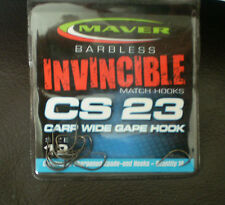 Maver Barbless Invincible Hooks CS23 Carp Wide Gape Hook
