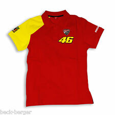 Ducati Corse Polo T-Shirt Moto Gp Valentino Rossi #46 Start Red Yellow New