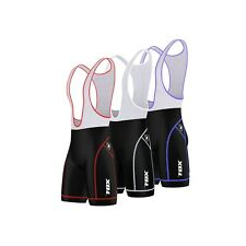 FDX Mens Cycling Bib Shorts Coolmax® Padding Outdoor Cycle Gear Tight Shorts