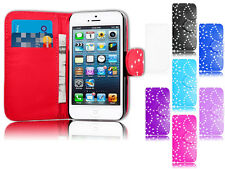 Magnetic Bling Wallet Flip Book Holder Leather Pu Case For Apple iPhone 4 4G 4S